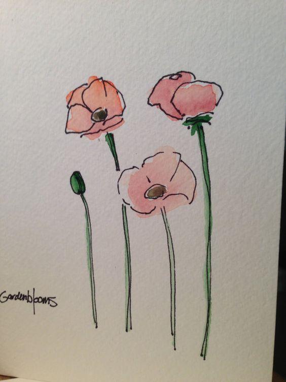 Pin Von Annmie Auf Zeichnen Und Malen Aquarell Karte Blumen