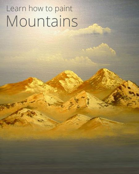 how to paint mountains with acrylics art lessons in 2019 pinterest painting mountain. Black Bedroom Furniture Sets. Home Design Ideas