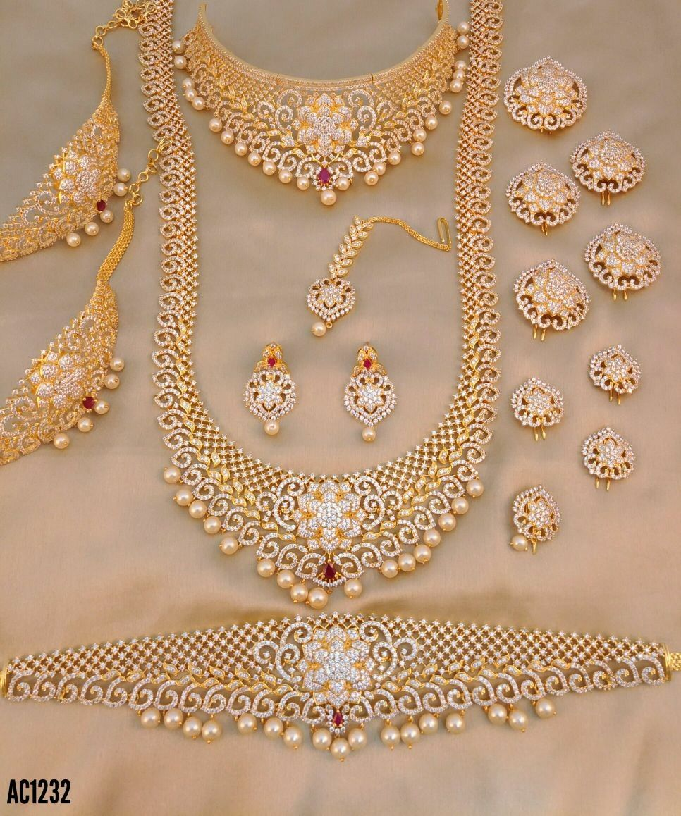 f4fdba7e7df44 Pin by Monika Moni on CZ jewellery in 2019   Bridal jewelry, Jewelry ...
