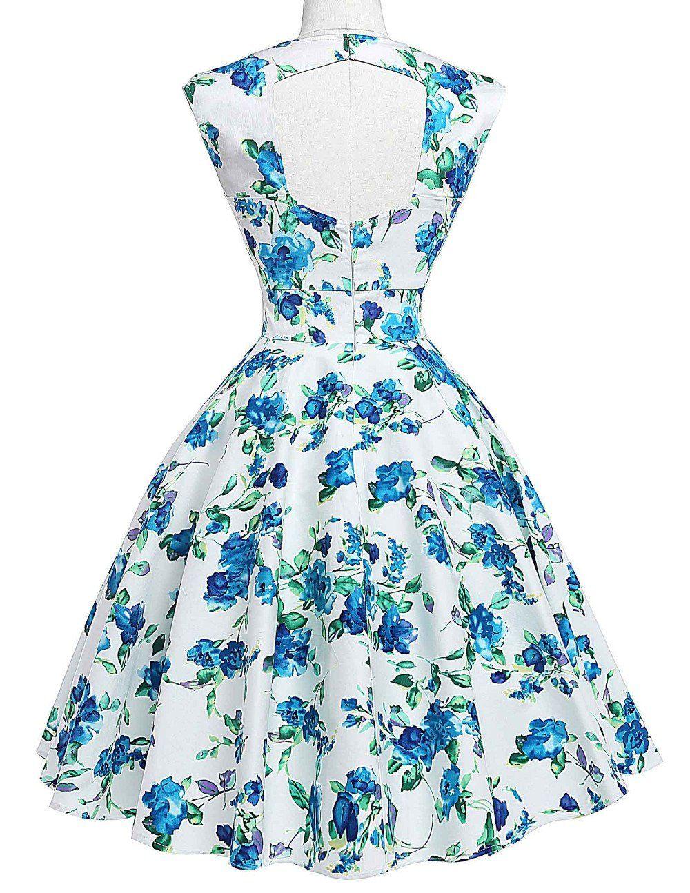 Casual Stylish Rockabilly Party Dress | Dress types, Cotton spandex ...
