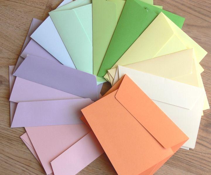 22 Faltkarten & Umschläge pastell 160gr. A6