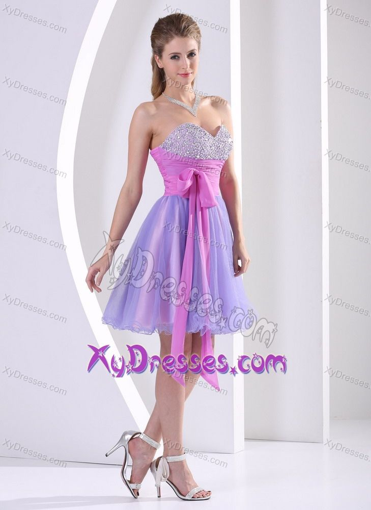 Beaded Sweetheart Lavender and Lilac Prom Dresses for Slim Girls ...