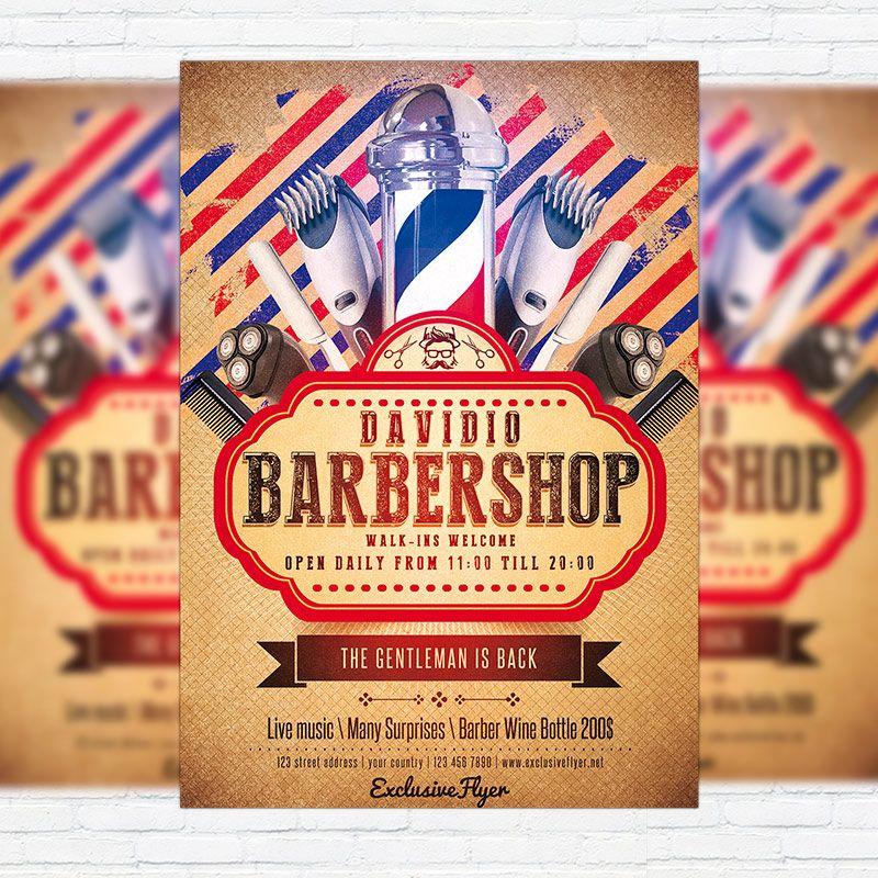 Barbershop flyer. | Manly & Sons Barber Co. | Pinterest | Flyers ...