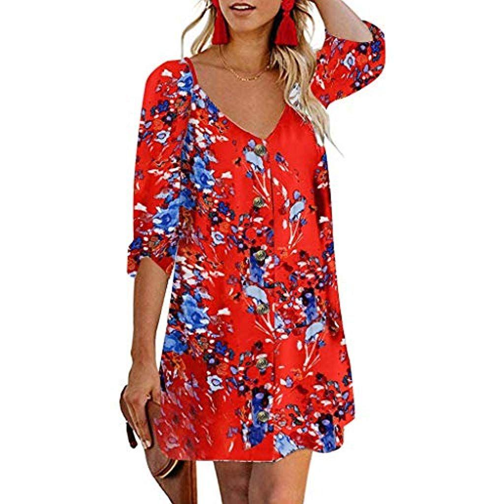 Photo of Summer Mosstars Women Plus Size Abiti casual estivi Elegante manica corta …