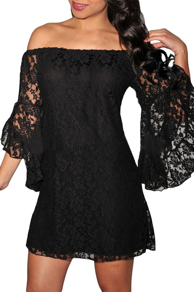 dbbf4980f0e5 Lace Off-The-Shoulder sexy elegant Mini party dress women winter plus size  XXL  DearLover  ClubSexy  Casual