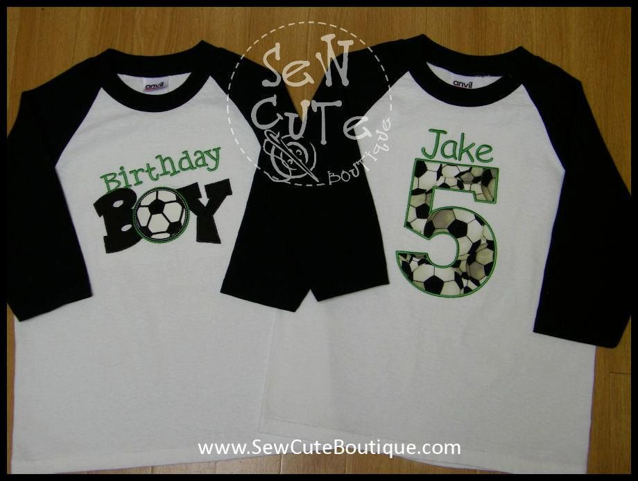 66ad92ad3bc Personalized Sports Birthday Shirt (Soccer) the soccer ball