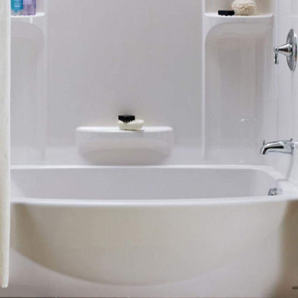 American Standard Ovation 5 ft. Left Hand Drain Bathtub in Arctic ...