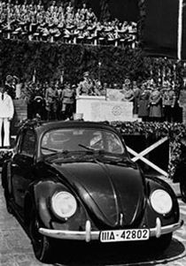 The Volkswagen being introduced by Hitler. This was the car, which was promoted to German Workers.