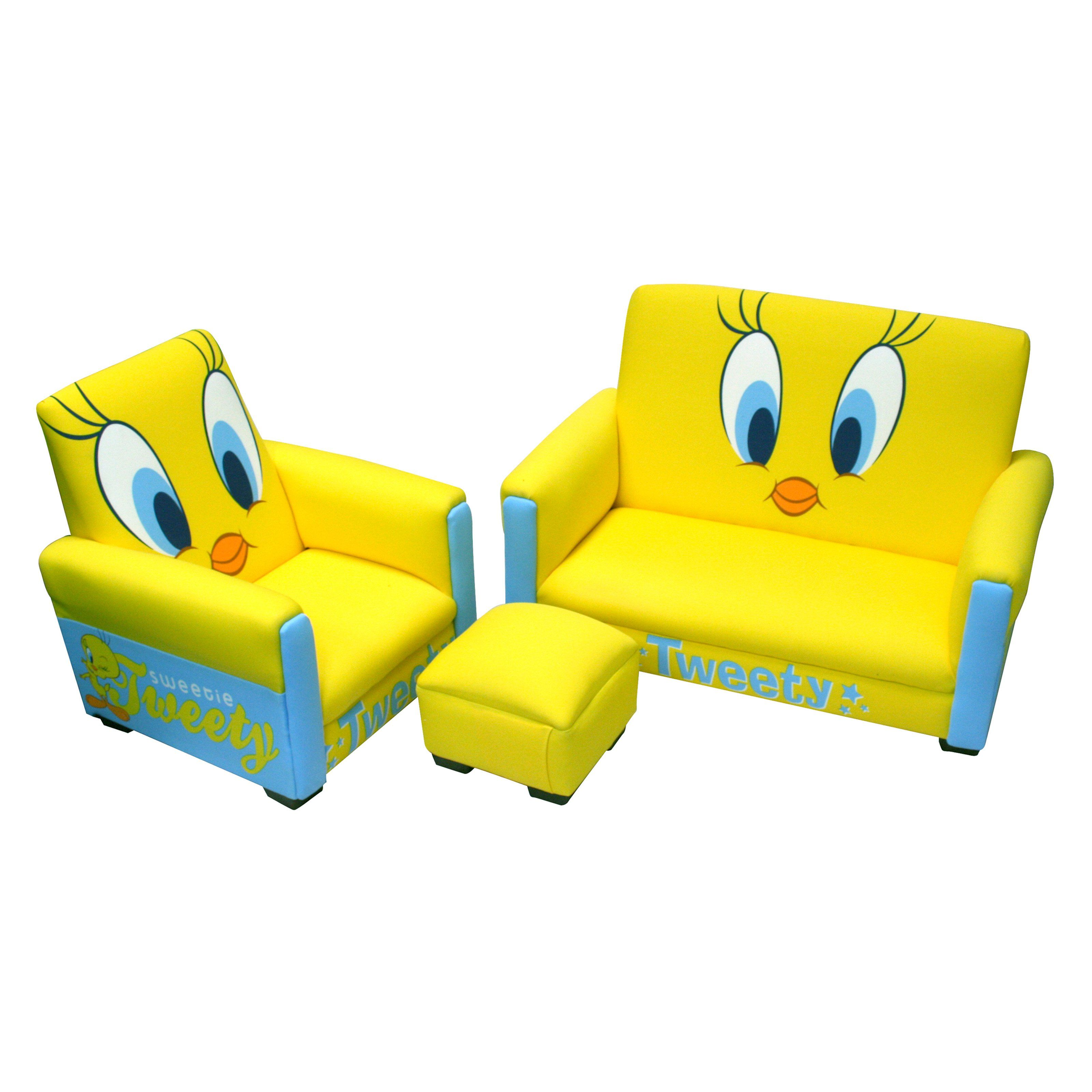 Have to have it. Warner Brothers Tweety Deluxe Toddler Sofa with Chair and Ottoman Set - $131.6 @hayneedle