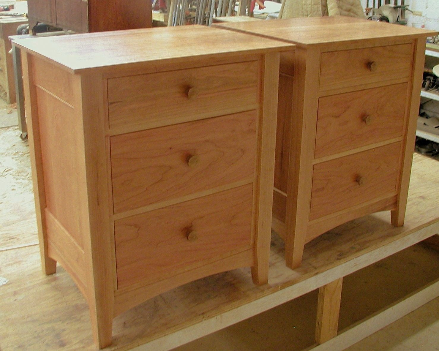 Nice Pair Of Nightstands Bedroom With 3 Drawers