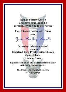 Simple Honors Border Eagle Scout Invitation On Eagles Wings