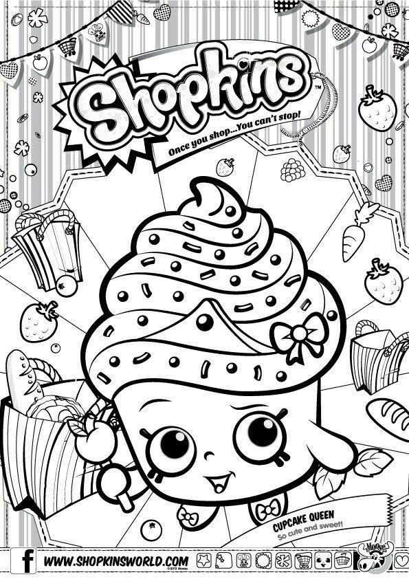 cup cake colorearhijospapelbordadoideas de la fiesta shopkinsdibujos para