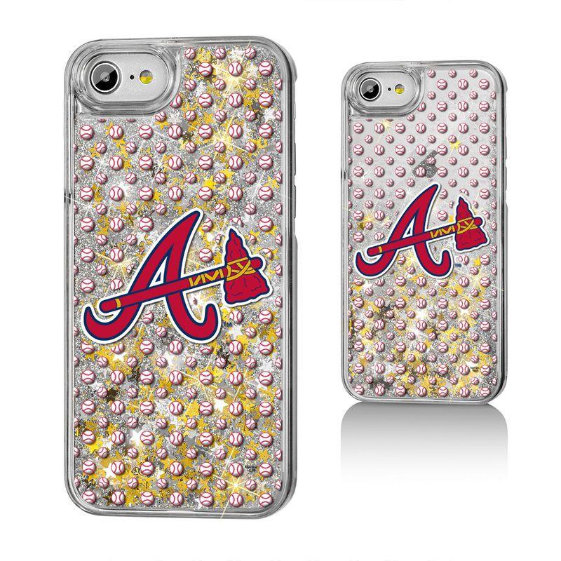 Atlanta Braves iPhone 6/6s/7/8 Logo Gold Glitter Case in