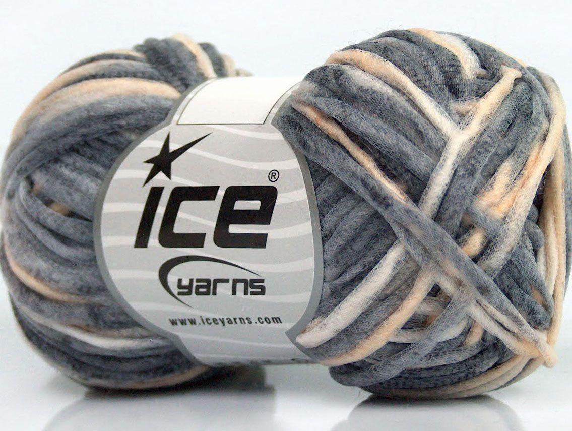 Fiber Content 40% Polyamide 30% Wool 30% Acrylic Brand Ice Yarns Grey Shades Cream fnt2-45767