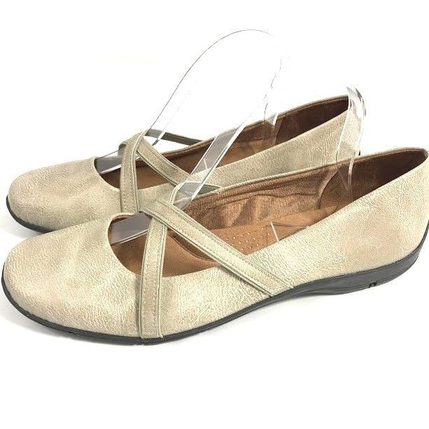 f8a57f69d5f Life Stride Womens Mary Jane Shoes Soft System Devlin Beige Size 9.5 ...