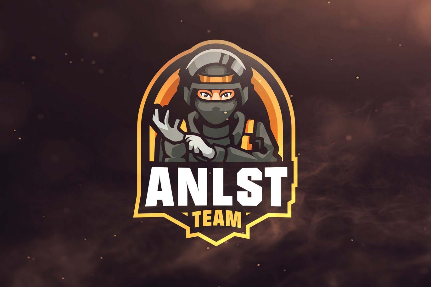 anlst team sport and esports logo template ai eps