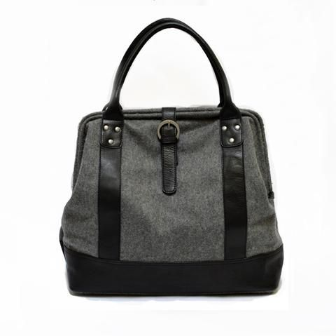 Miquel Mason Bag Charcoal Wool