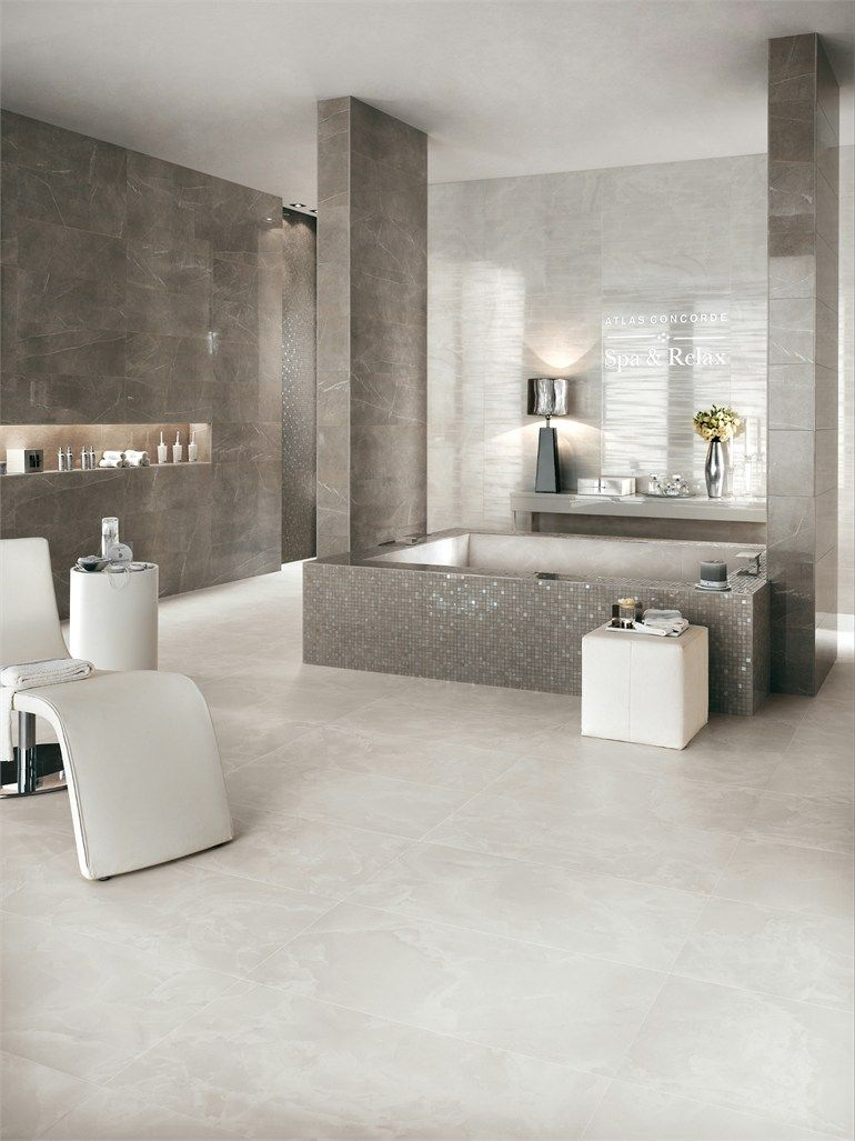 White Paste Wall Tiles With Marble Effect Marvel By