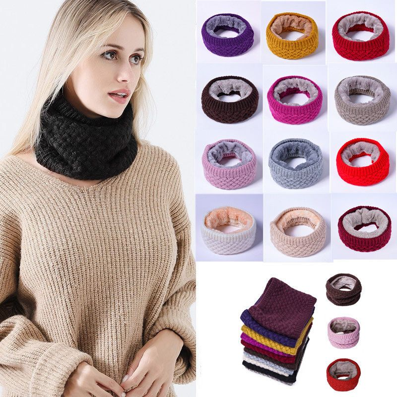 b9b74c468e4 13 Colors Men Women Scarf Winter Warm Cotton Scarves Knitted Collar  Bandanas  fashion  clothing  shoes  accessories  womensaccessories   scarveswraps (ebay ...