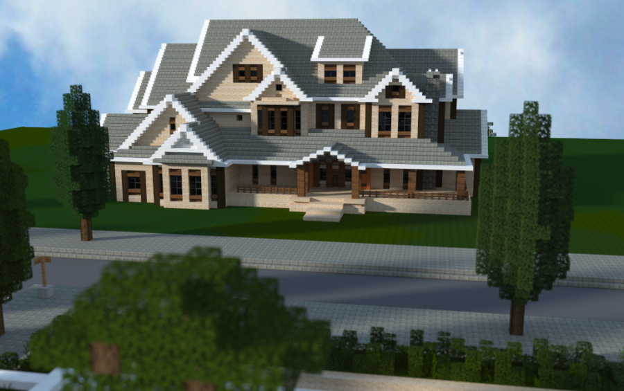 Traditional mansion by jar9 minecraft houses pinterest for Traditional and modern houses