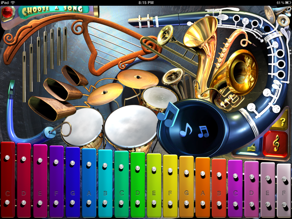 Go Go Xylo 3D music app I designed and animated for Barrett Productions. For ipad, iphone, and ipod touch.