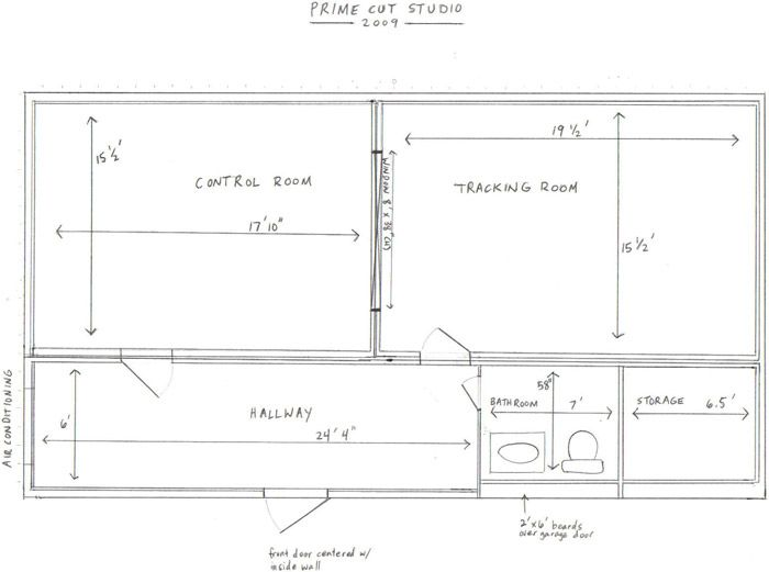 Blueprint Blueprints Recording Studio Storage Room