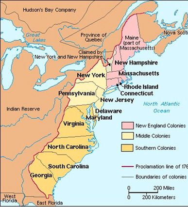 Map Of Colonies US History Scavenger Hunt Pinterest - Us colonies and england world map