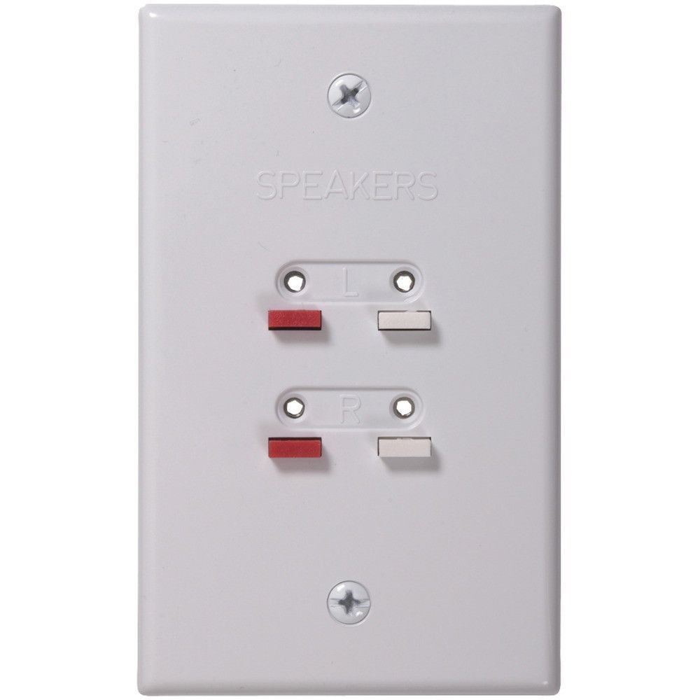 RCA AH300WHR Stereo Speaker Wire Wall Plate (White) | Products ...