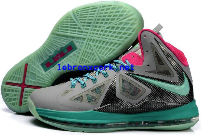 e1d9d8144d54 Lebron Shoes For Sale Cheap Lebron 10s South Beach Grey Black Pink ...