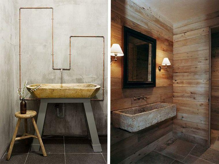 Lavabos rústicos ideas para cada tipo de baño | Lavabos ...