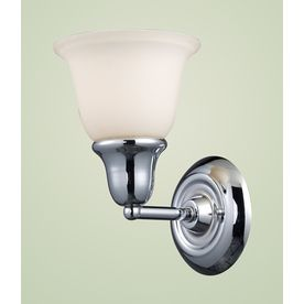 westmore lighting ashington 1 light 8 in polished chrome bell vanity