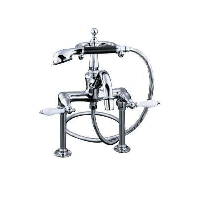 Kohler Tub Faucet With Hand Shower.Kohler Finial 2 Handle Claw Foot Tub Faucet With Hand Shower