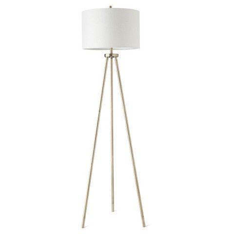 Ellis Tripod Floor Lamp Brass White Project 62 Tripod Floor Lamps Floor Lamp Floor Lamp Bedroom