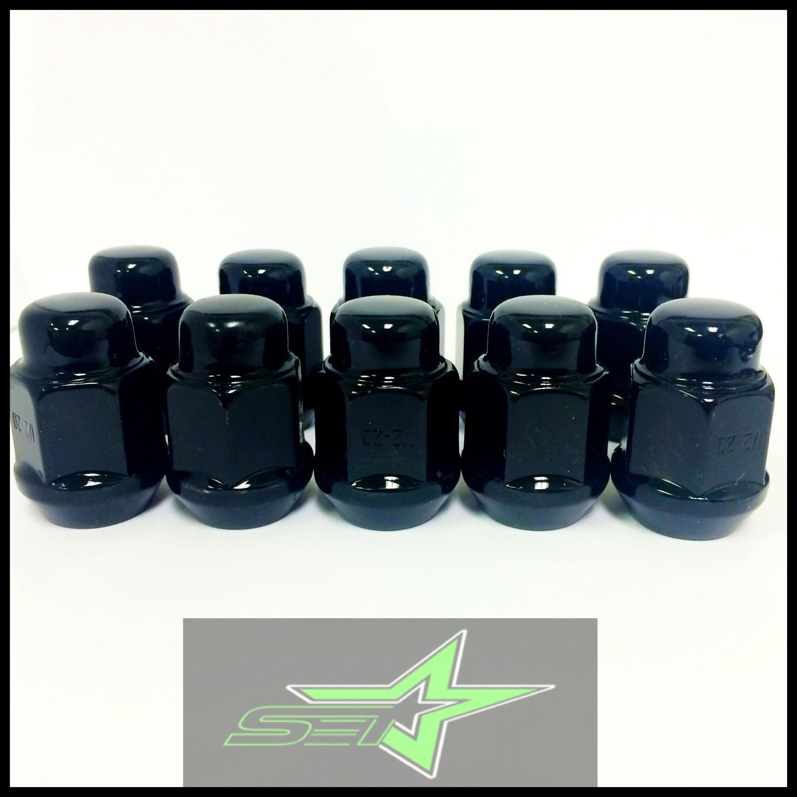 20 Black Lug Nuts 14x1 5 Mopar Dodge Challenger Charger Magnum 5x115 Lugs 2012 Jeep Forged Steel Dodge Challenger