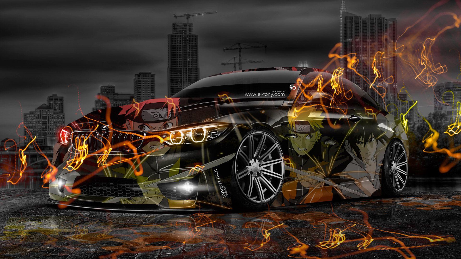 Merveilleux BMW M4 Anime Aerography Naruto City Car 2014
