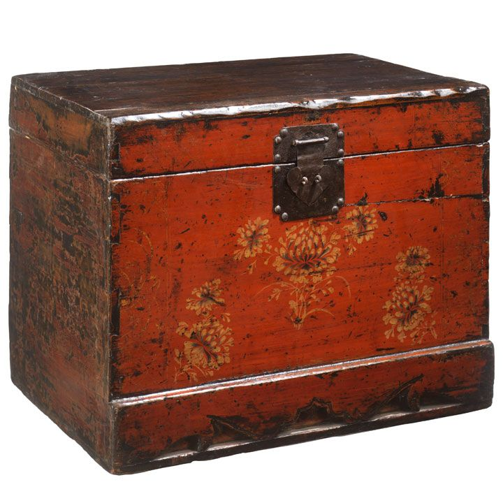 Chinese Trunk In Red Painted Lacquer #ChineseAccessories