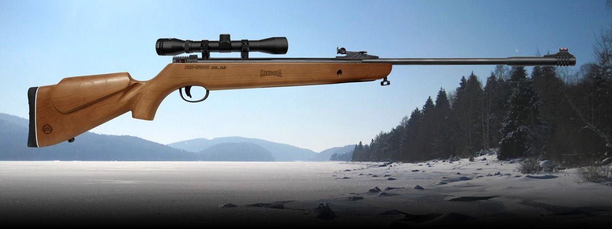 RM 6000 SAFARI: Rifle Magnum de Aire de Alta Potencia. RM-6000-SAFARI, Calibre: 5.5, Capacidad de tiro: Mono tiro, Peso: Total: 3.6 kg, Largo del Cañon: 400 mm, Longitud Total: 1200 mm, Velocidad hasta: 259 m/s, Energía de Impacto: 30.86 J, Precisión c-c a 10m: 12.7, Sensibilidad del disparador: 0.45 - 1.13 Productos Mendoza Calidad y Precisión desde 1911