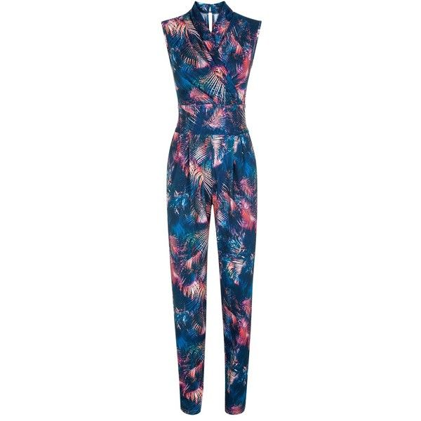 HotSquash The Jumpsuit in clever fabric ❤ liked on Polyvore featuring jumpsuits, blue jumpsuit, jumpsuits & rompers, jump suit and blue jump suit