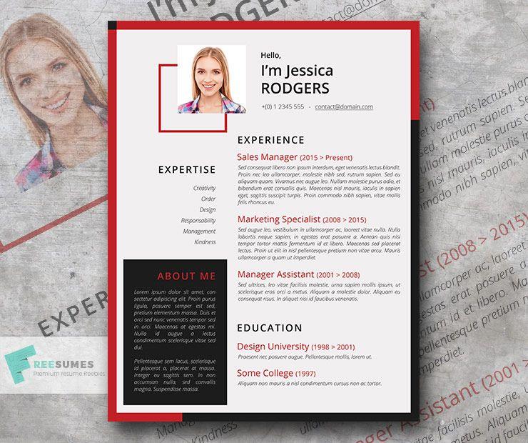 Hot resume design template chili pepper resume design
