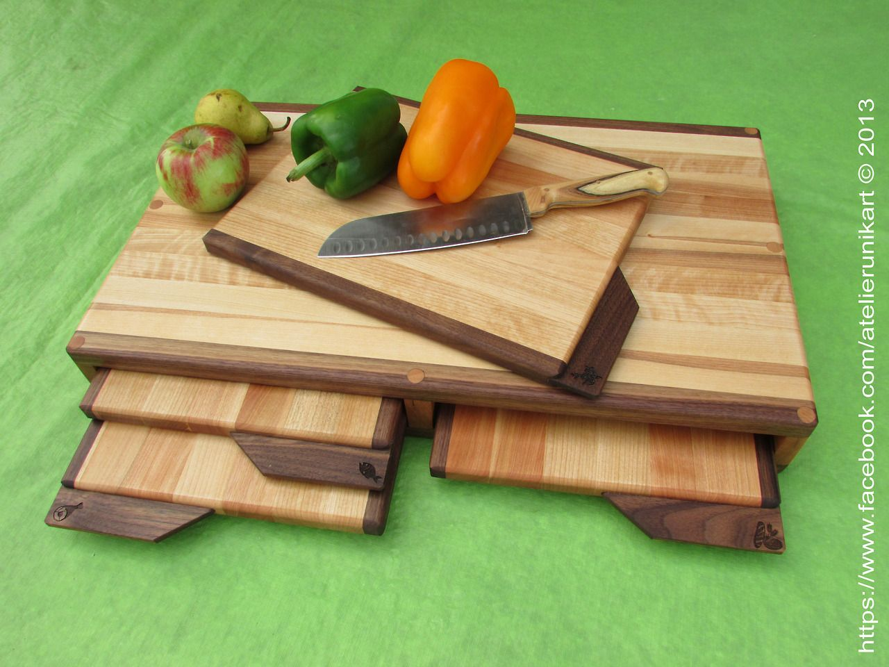 5 in one cutting board - Set of recessed chopping...