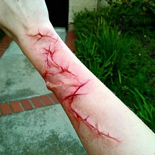 Barbed wire fence attackss creepy makeup pinterest