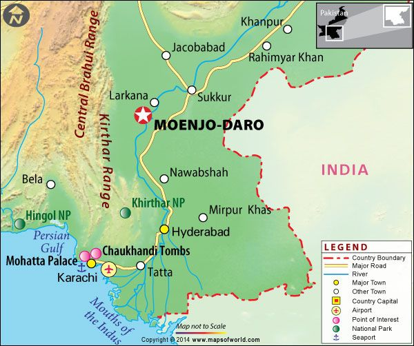 Mohenjo Daro Map Mohenjodaro, Pakistan   Map, Facts, Location, History, Tour, Guide