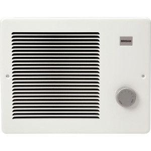 Broan 174 750 1500w 120 Vac Painted Grill Wall Heater White Bathroom Heater Wall Fans Electric Fan