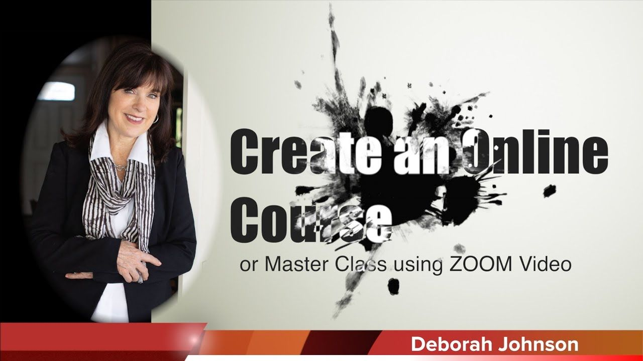 Creating an online course master class using zoom video