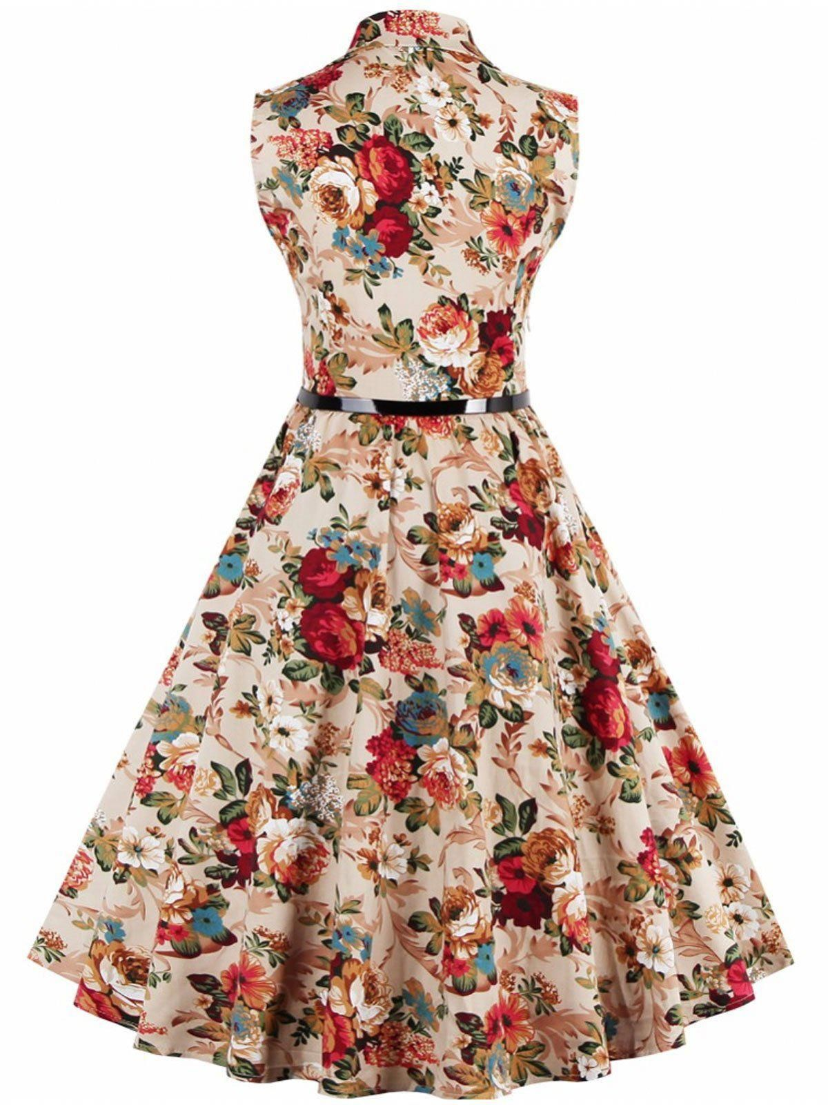 f4838189f Apricot 1950s Button Down Floral Dress – Retro Stage - Chic Vintage Dresses  and Accessories