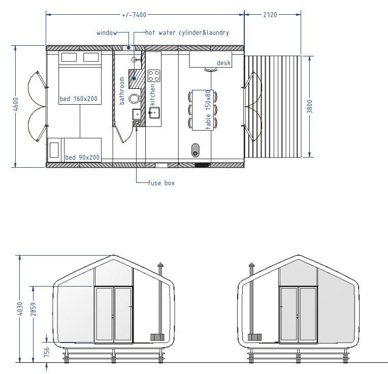 Wikkelhouse Cardboard And Wooden House Floornature Wooden