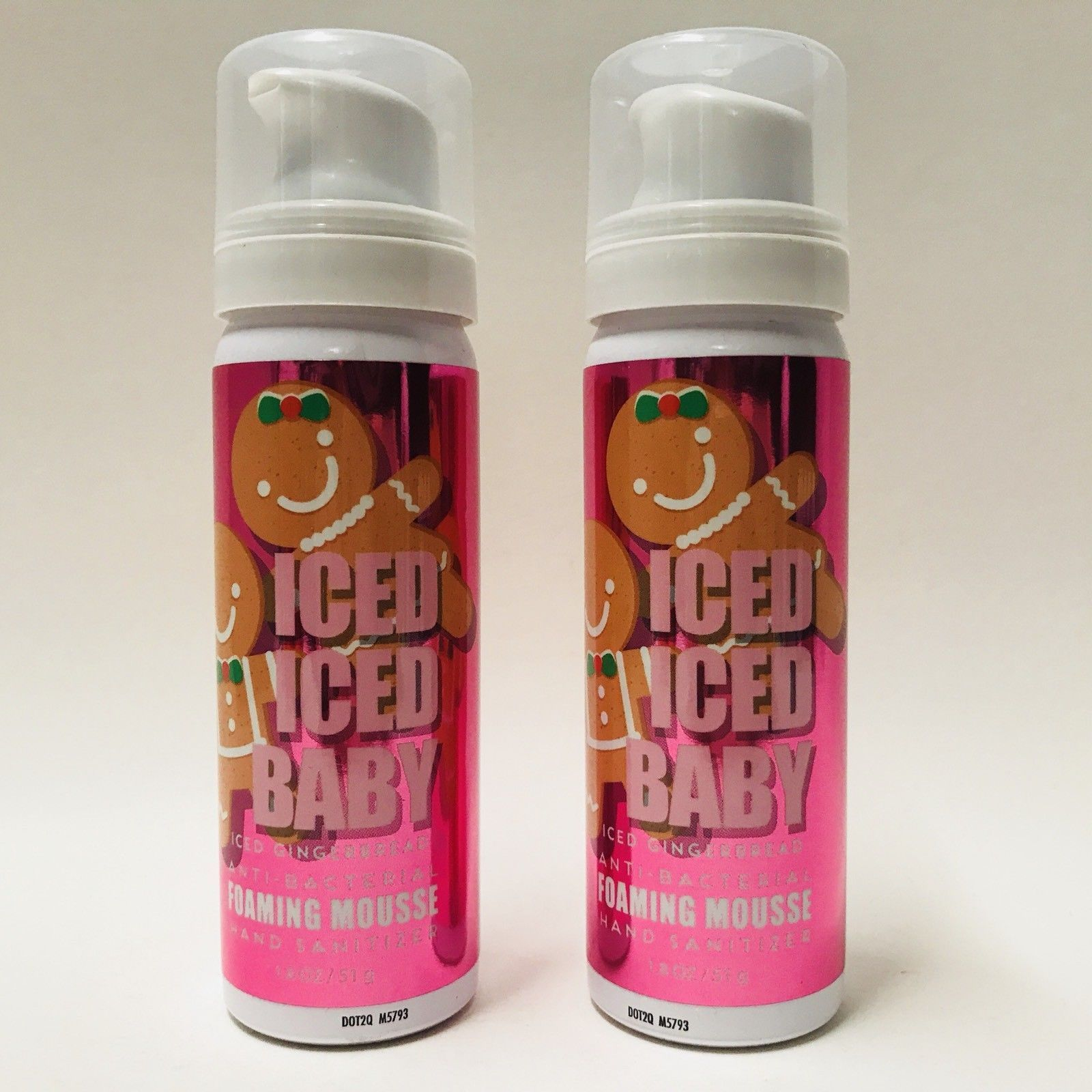 2 Bath Body Works Iced Iced Baby Iced Gingerbread Foaming Mousse