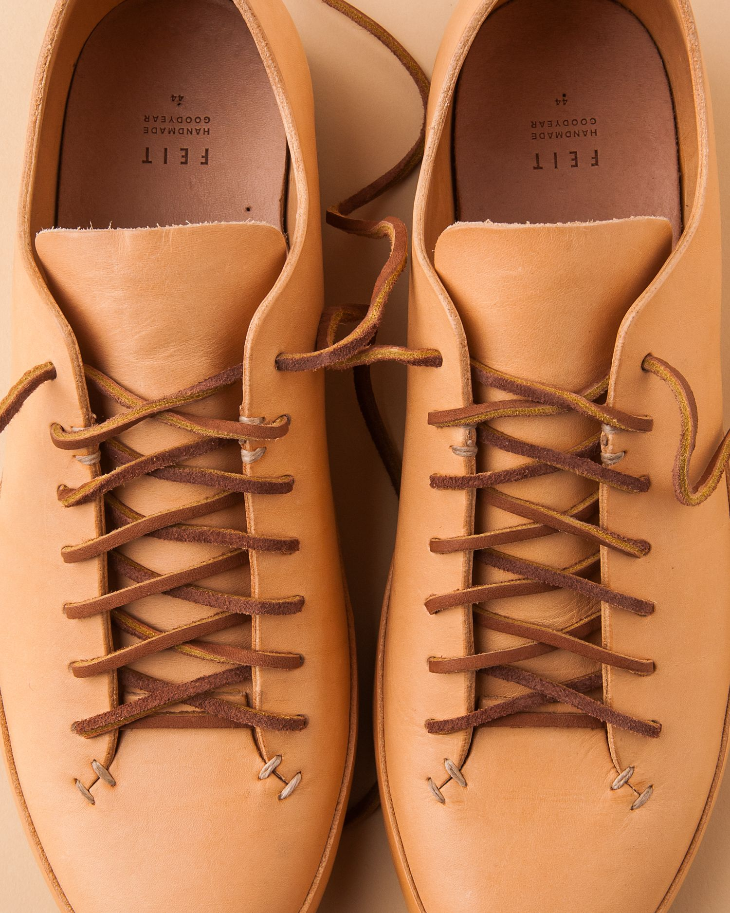 natural veg-tanned leather