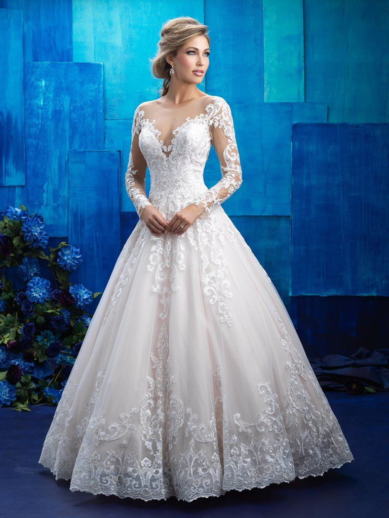Romantic And Regal This Ballgown Is An Elegant Homage To The Wedding Gowns We Dreamed About As Little Girls Colors Chagneivorynudesilver: Silver Lace Ball Gown Wedding Dresses At Websimilar.org