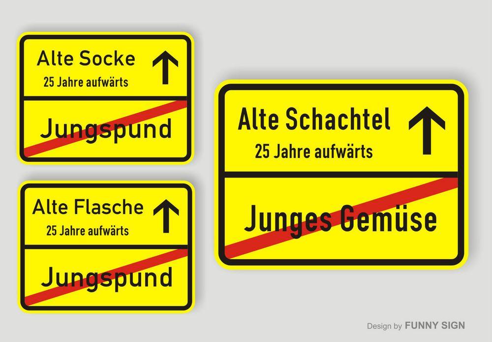 Ortsschild Schild Zum 25 Geburtstag Schachtel Flasche Socke 31 5